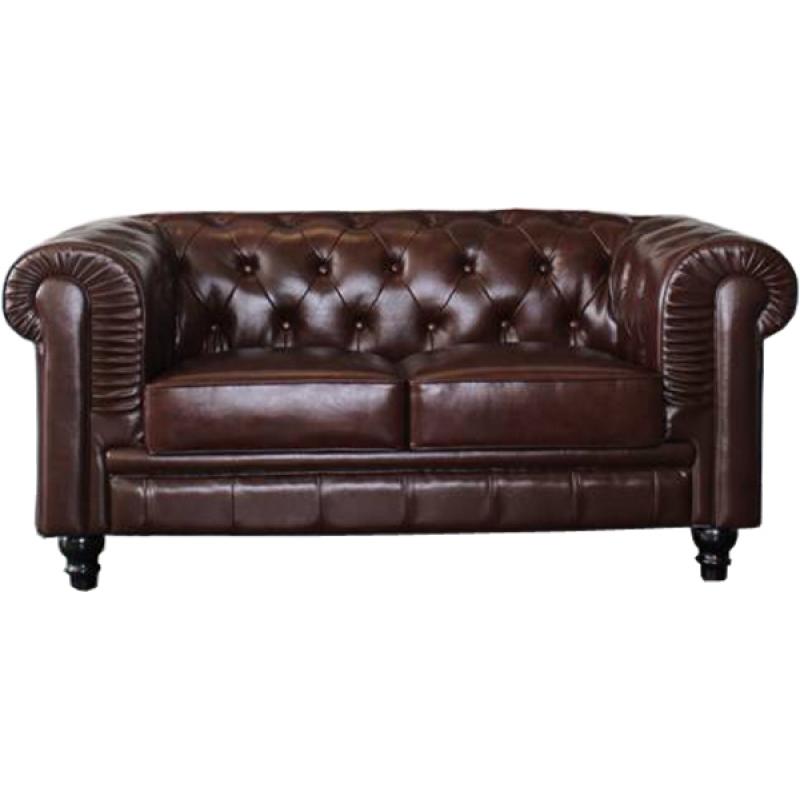 Comprar sof chester 2 plazas piel colores blanco ref a6050 - Sofa de piel blanco ...