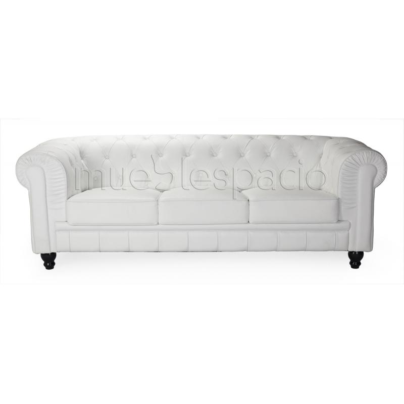 Sofa chester 3 plazas piel de dise o estilo vintage for Sofa chester barato
