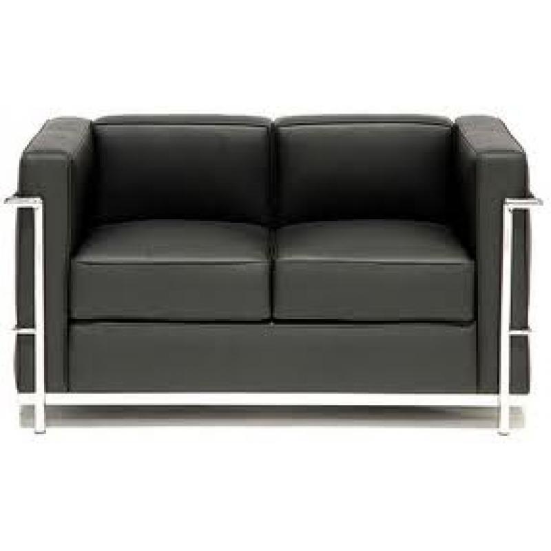 Comprar sof lecor 2 plazas piel colores blanco ref a6210b - Sofa de piel blanco ...