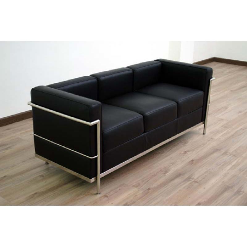 Sofa lc2 de lecorbusier mueblespacio - Mejores sofas de piel ...